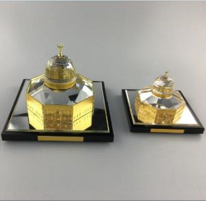 Islamic Gifts Dome of Rock Crystal with 24K Gold Plated Model Medium