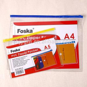 Transparent Clear PVC Zipper Pocket/Plastic Document Bag with Zipper pictures & photos