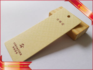 Blue Paper Hangtag Garment Price Hang Tag pictures & photos
