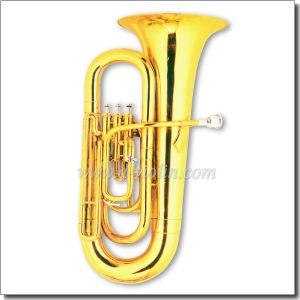 3 Valves Bb Key Gold Lacquer Children Tuba (TU9914) pictures & photos