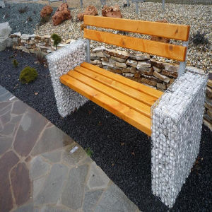 Welded Mesh Gabion Garden Seats pictures & photos