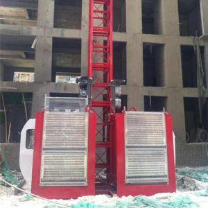 2 Ton Double Cage Building Hoist Elevator Sc200/200 pictures & photos