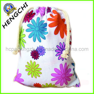2014 High Quality Fashion Cotton Drawstring Bag (HC0204) pictures & photos