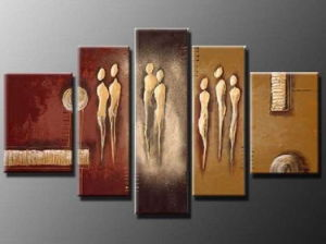 Handmade Stretched Peopole Oil Painting