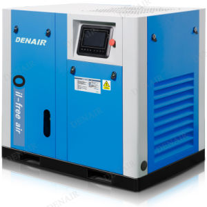 Stationary Non-lubricated Oilless Oil-free Oil Less Rotary Screw Air Compressor pictures & photos