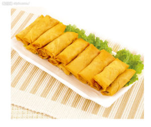 IQF Frozen 100% Hand Made Vegetable 17g/piece Flat Rectangle Spring Rolls pictures & photos