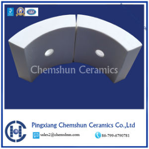 Alumina Ceramic Weldable Curved Tile as Ceramic Lining Pipe pictures & photos
