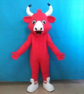 Red Bull Mascot Costume for Adult Cow Costume