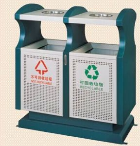 Double Tank Outdoor Rubbish Barrel (GPX-154) pictures & photos