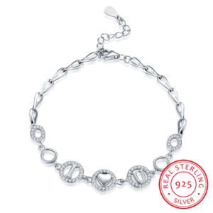 2017 Fashion Jewelry I Love You Bracelet 925 Sterling Steel 5.2g Romantic Design for Women pictures & photos