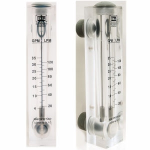 Liquid Water Flow Meter Acrylic Rotameter Panel Type