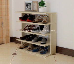 Wholesale Wooden Melamine Particle Board /MDF Custom Shoe Rack pictures & photos