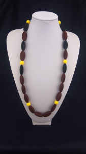 BPA Free Silicone Bead Necklace 02#