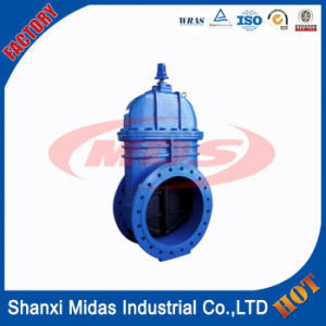 DIN3352 /En1171 36 Inch Ductile Cast Iron Ggg50 Big Sizs Resilient Seated Flanged Gate Valve pictures & photos