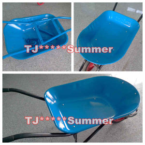 Powder Coated Wheel Barrow for Brazil Market pictures & photos