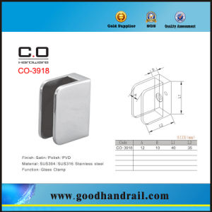 Stainless Steel Bathroom Glass Clamp Co-3918 pictures & photos