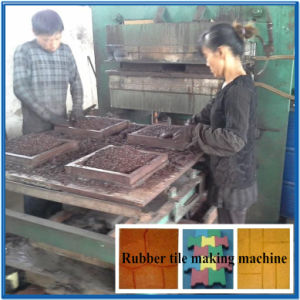 Xlb550 Rubber Tile Making Machine for Floor Making pictures & photos