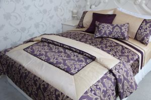 Hotel Use Patchwork Bedding Set pictures & photos