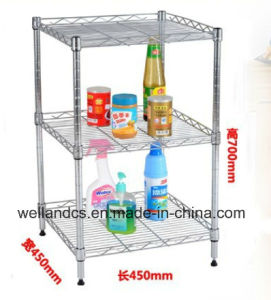 DIY Chrome Metal Wire Kitchen Shelf with NSF Approval pictures & photos