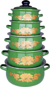 Enamel Casserole Pot /5 PCS Cookware Set pictures & photos