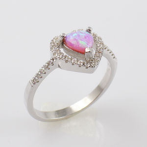 Hot Selling Pink Fire Opal Finger Ring