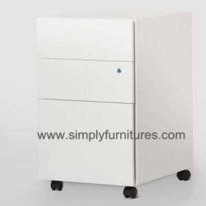 Mobile Cabinet/Steel Mobile Pedestal with 3 Drawers (SI6-LCF3MW) pictures & photos
