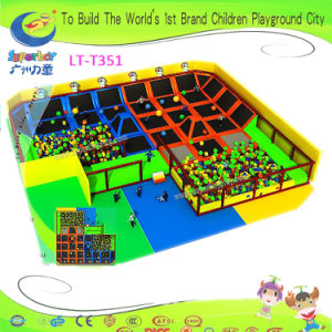 Chidren Playground Equipment Trampoline with Foam Pits pictures & photos