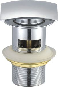 Square Clic-Clac Brass Waste Bathtub Drainer (slotted) pictures & photos