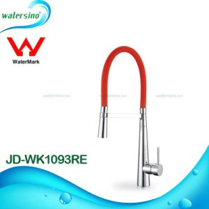 Fancy Kitchen Sink Brass Mixer Tap with Rubber Hose pictures & photos