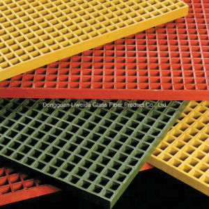 Electric Insulation FRP Pultruded Grating, Fiberglass Molded Grating pictures & photos