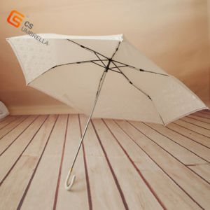 "21""*6k White Beautifull Three Fold Lace Umbrella (YS-3F4005A) pictures & photos"