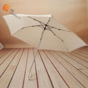 "21""*6k White Beautifull Three Fold Lace Umbrella (YS-3F4005A)"