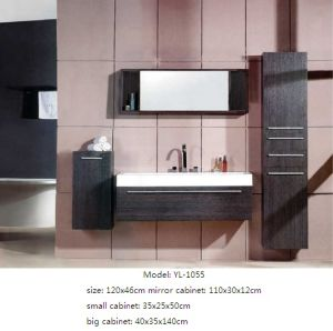 Wall Mounted Furniture Bathroom Cabinet with Mirror pictures & photos