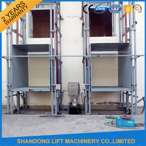 China Hydraulic Guide Rail Lift Customized Cargo Lift pictures & photos