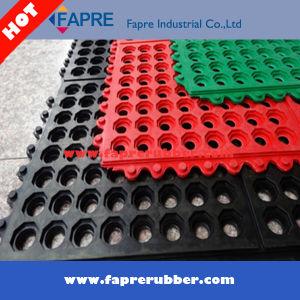 Interlocking Rubber Mat/Drainage Rubber Mat/ Acid Resistant Rubber Mat pictures & photos