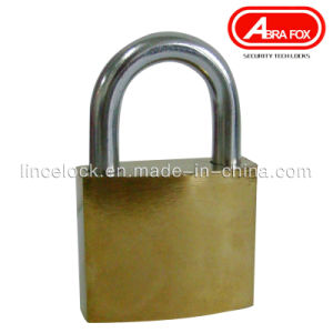 Golden Iron Padlock, Middle Type Normal Key, Cross Key (305B) pictures & photos