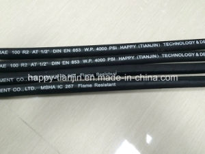 SAE 100r2at Two Wire High Pressure Hydraulic Rubber Hose pictures & photos