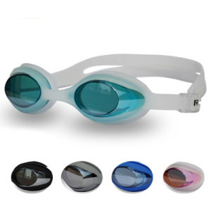 Adult Anti Fog Silicone Swim Goggle with Diopter pictures & photos