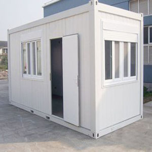 Prefabricated China Low Cost Steel Structure Standard 20FT Container Housing pictures & photos