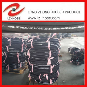 "SAE 100r2at8"" High Pressure Oil Rubber Hose"