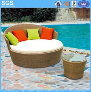 Leisure Furniture Garden Furniture Rattan Woven Daybed pictures & photos