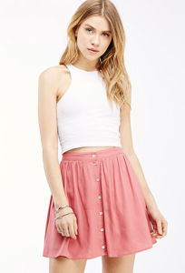 OEM Fashion Best Price Pure Color A-Line Women Skirt pictures & photos
