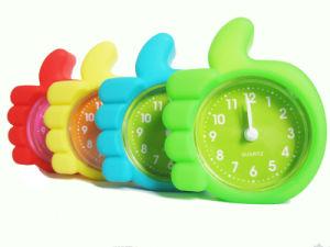 Kid′s Cute Portable Finger Shape Silicone Mini Desk Clock pictures & photos
