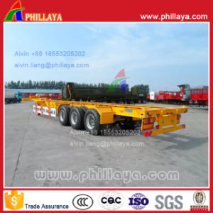 Tri-Axle Gooseneck Type Container Semi Trailer Skeleton 45FT pictures & photos