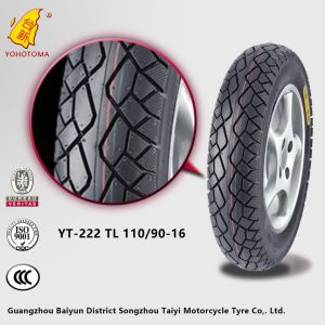 China Low Price Motorcycle Tyre Yt-222 Tl 110/90-16 pictures & photos