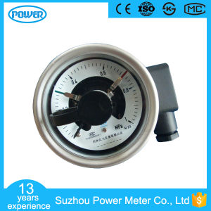 1MPa Back Connection Stainless Steel 60mm Electrical Pressure Gauges pictures & photos