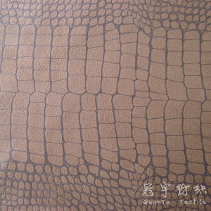 Typed Suede Sofa Fabric Crocodile Pattern pictures & photos