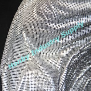 4mm Flat Shape Aluminum Sequins Metallic Fabric for Curtain Design