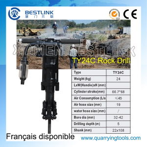 Ty24c Hand Hold Vertical Pneumtatic Rock Drilling Machine pictures & photos
