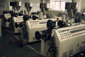 CE Standard Conical Twin Screw Extruder